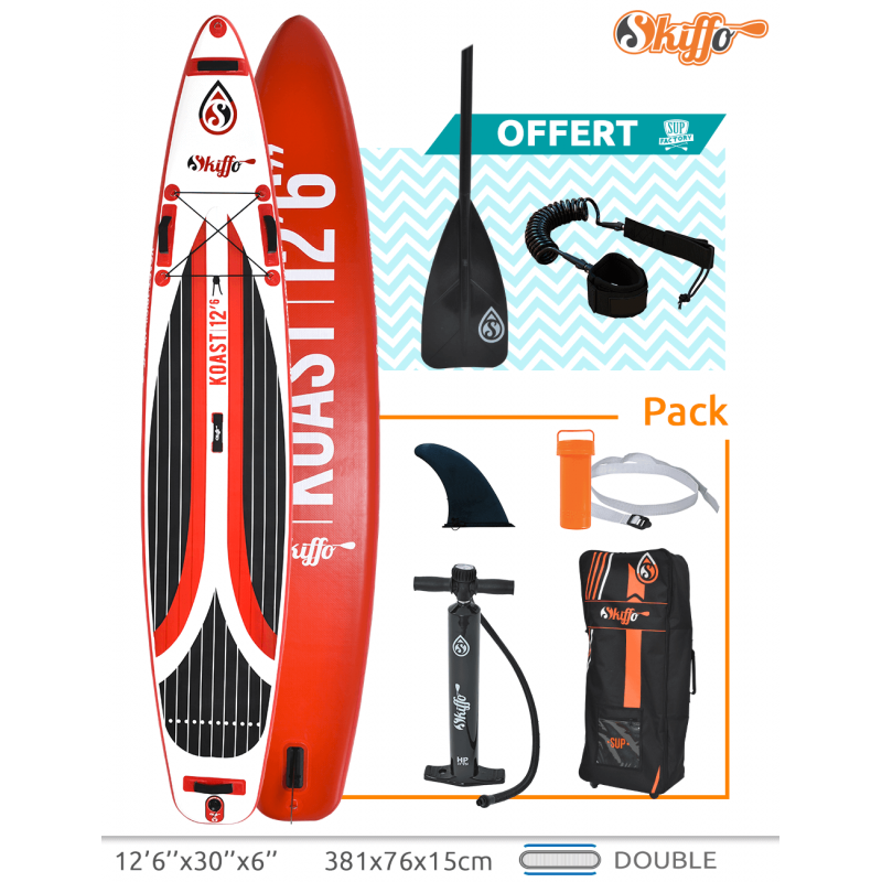 Skiffo Sun Cruise Koast 12'6'' - Stand Up Paddle Gonflable Skiffo pour tous - Reconditionné