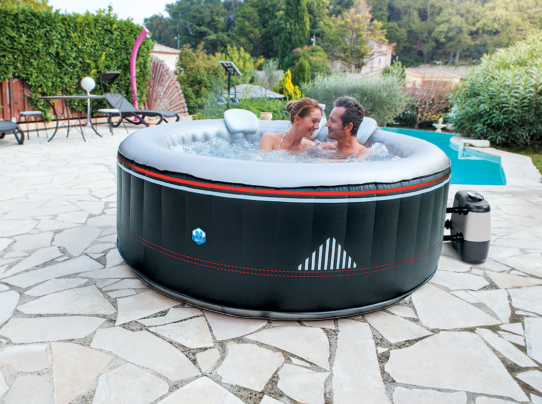 Piscinex spa spa gonflable rond netspa montana 4 ou 6 personnes - Spa gonflable 6 personnes ...