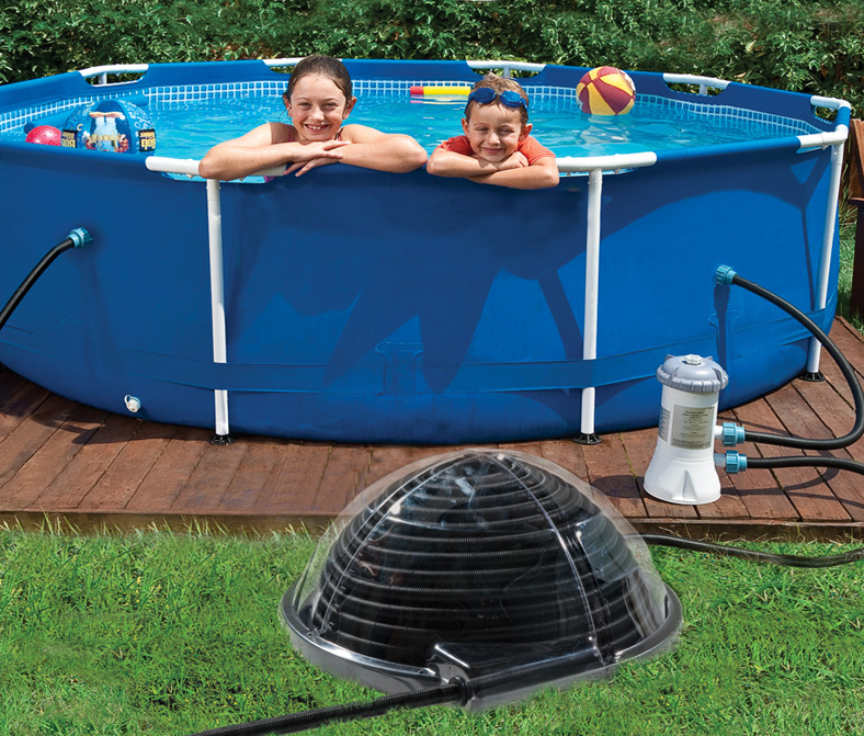 piscinex chauffage piscine r chauffeur solaire aquadome zip destockage. Black Bedroom Furniture Sets. Home Design Ideas