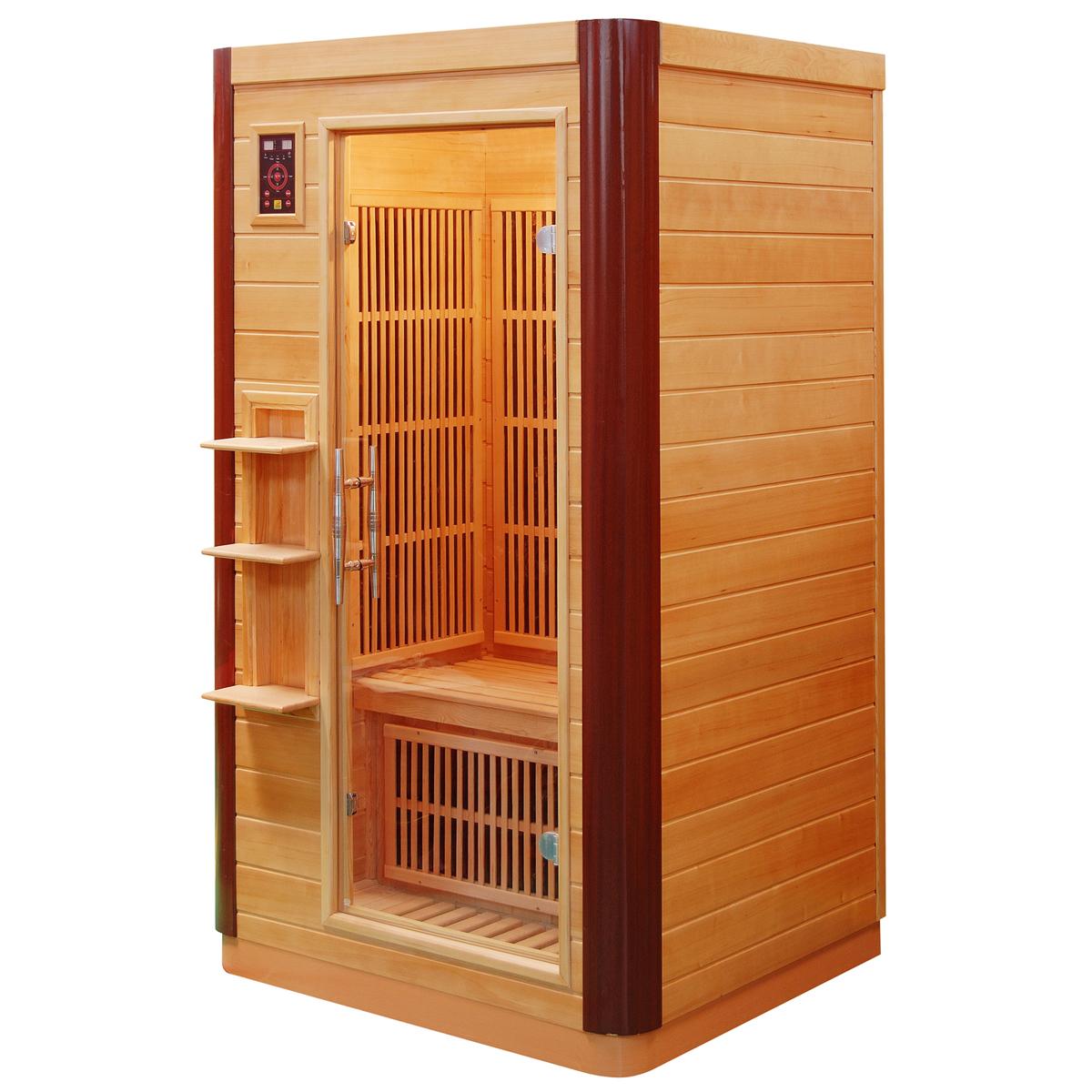 Piscinex sauna prince sauna infrarouge prince 1 place - Sauna infrarouge 1 place ...