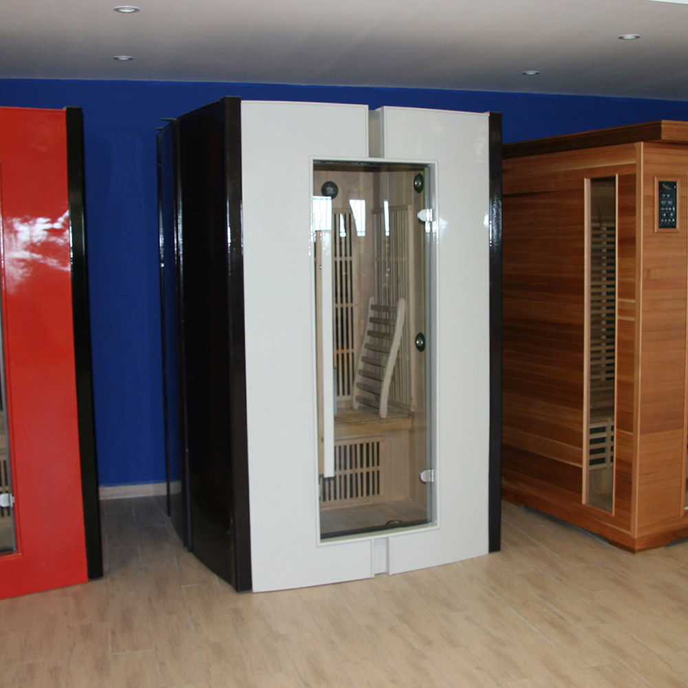 Piscinex les bonnes affaires piscinex sauna infrarouge fitness sauna gris - Sauna infrarouge bienfaits ...
