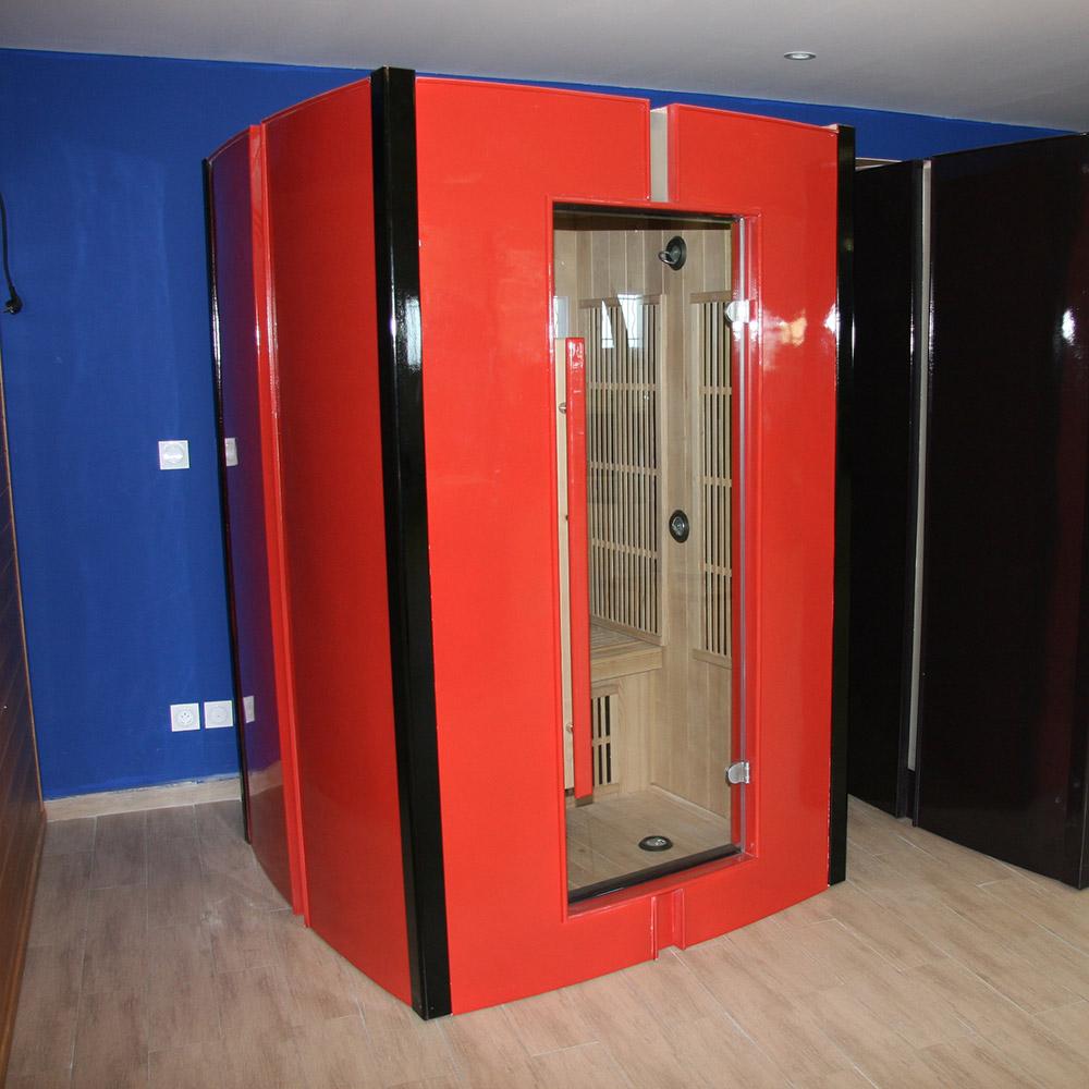 piscinex les bonnes affaires piscinex sauna infrarouge fitness sauna rouge 2 places rc. Black Bedroom Furniture Sets. Home Design Ideas