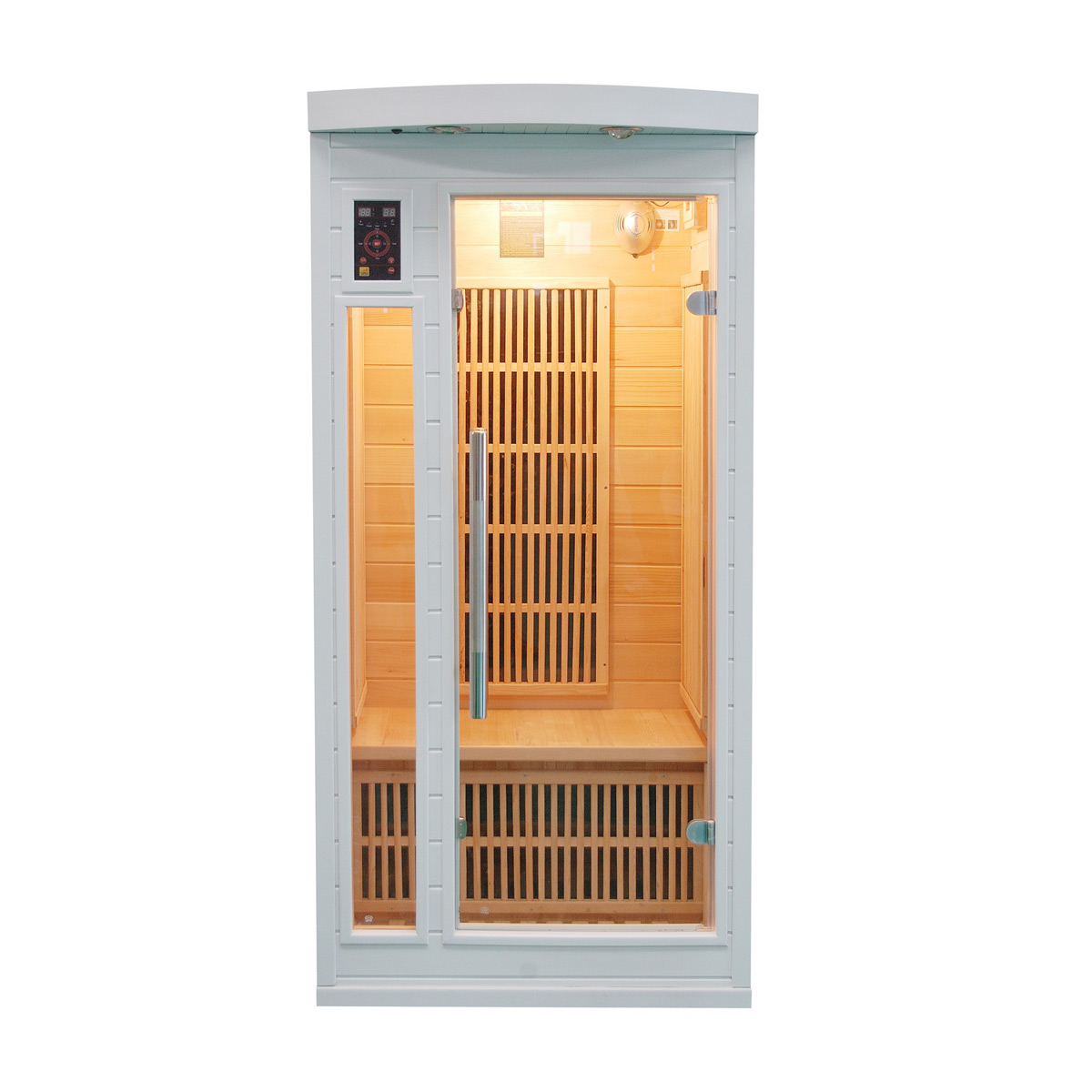 piscinex sauna sauna infrarouge soleil blanc 1 place reconditionn. Black Bedroom Furniture Sets. Home Design Ideas