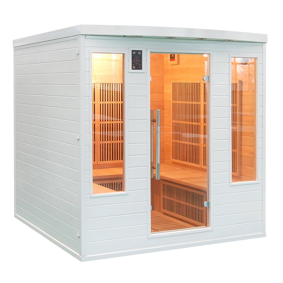 piscinex sauna soleil blanc sauna infrarouge soleil blanc club 4 5 places. Black Bedroom Furniture Sets. Home Design Ideas