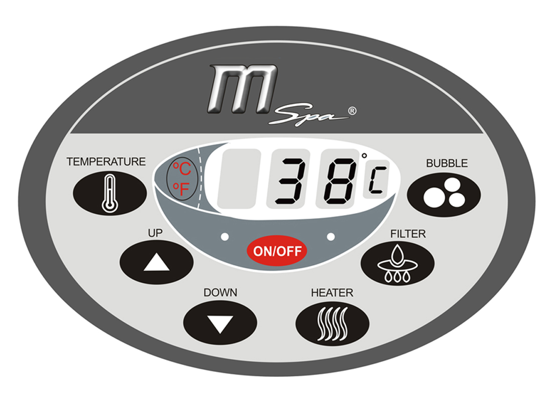 Panneau de contrôle digitale spa gonflable MSPA