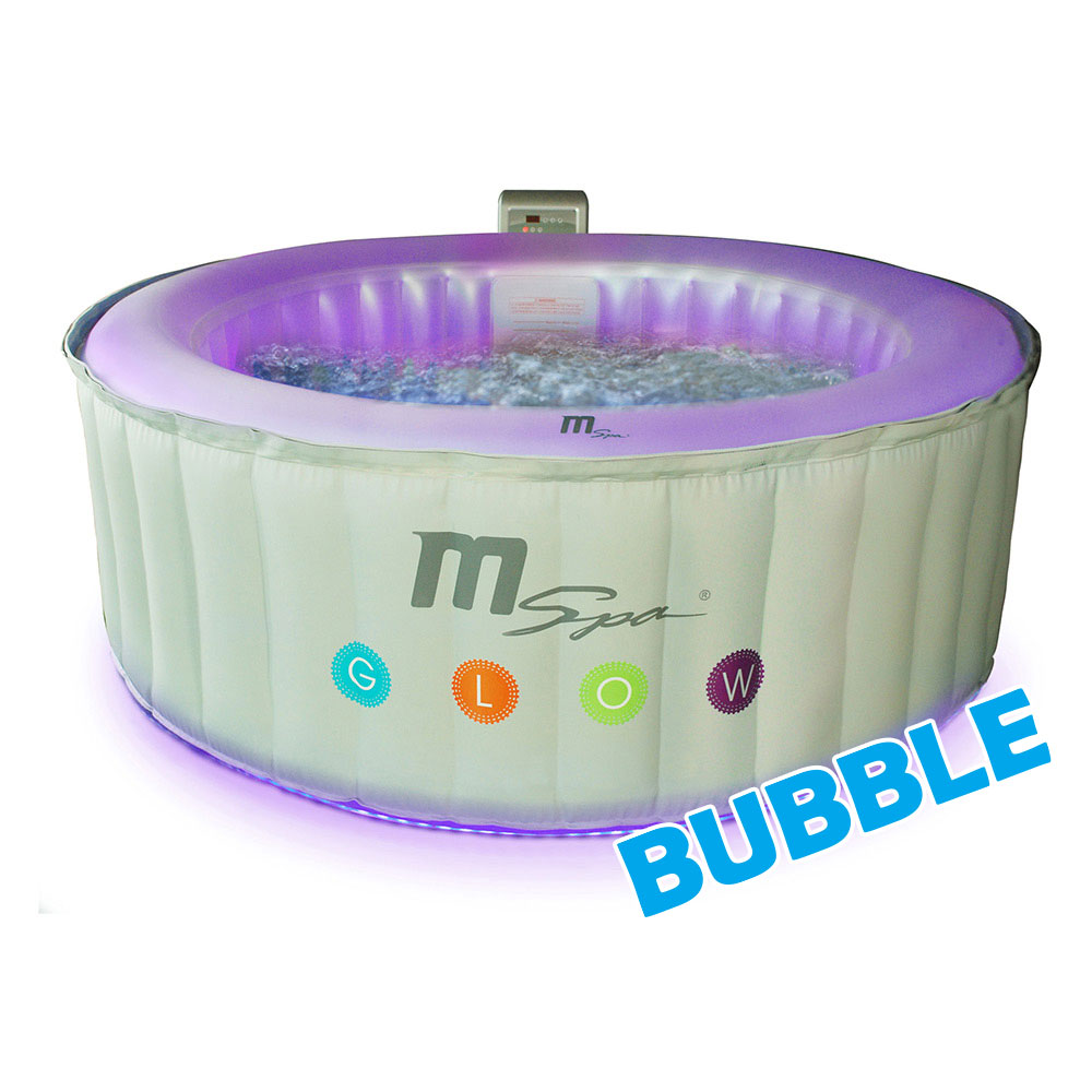 Piscinex spa spa gonflable oasis glow lite 4 adultes - Spa gonflable avec led ...