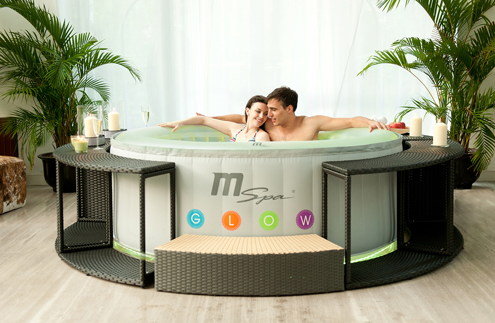 piscinex spa spa gonflable oasis glow lite 4 adultes. Black Bedroom Furniture Sets. Home Design Ideas