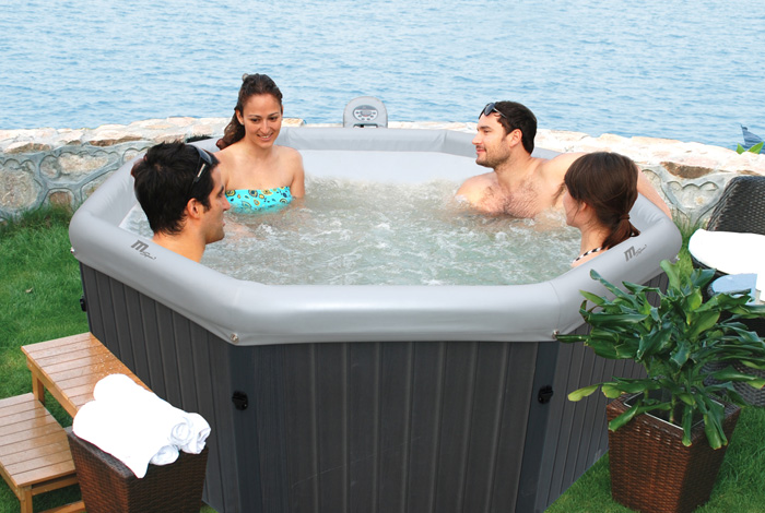 piscinex spa gonflable spa portable tuscany gris 6 places. Black Bedroom Furniture Sets. Home Design Ideas
