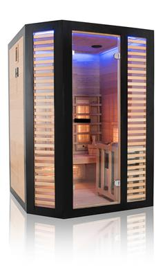 Sauna Hybride Graphite - 2/3 places + pôele 4,5 kw + pierre - reconditionné