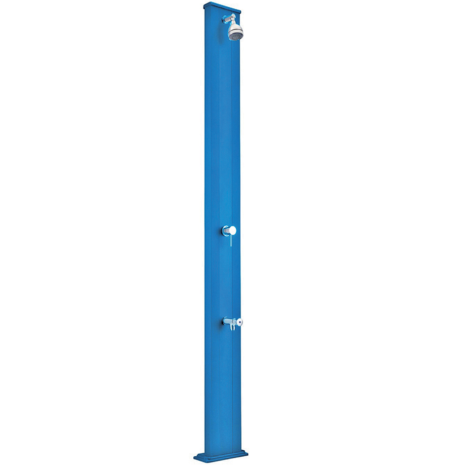 Piscinex douche spring douche solaire spring s bleu for Equipement douche