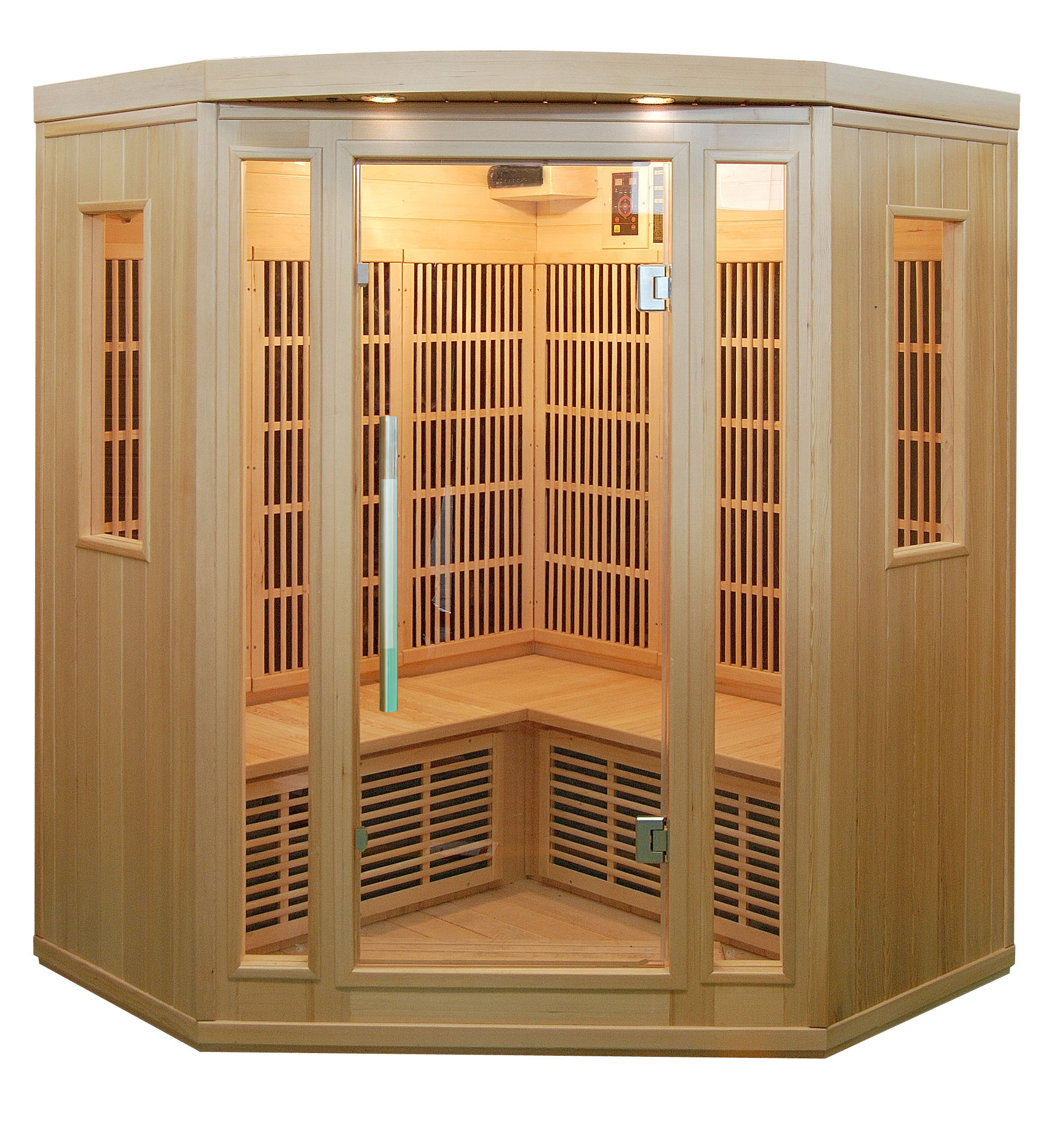 Piscinex sauna duo sauna infrarouge quatuor 3 4 places - Sauna infrarouge utilisation ...