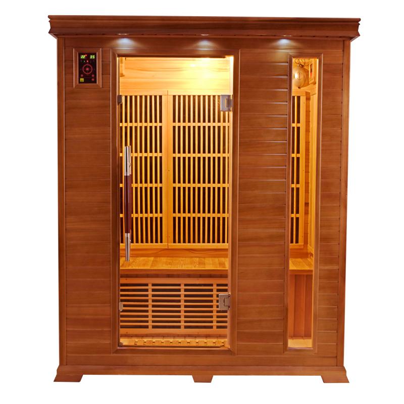 Piscinex sauna luxe sauna infrarouge luxe 3 places - Sauna infrarouge 3 places ...