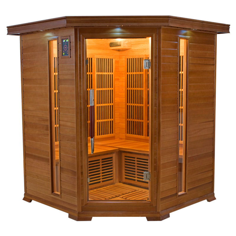 piscinex sauna luxe sauna infrarouge luxe 3 4 places. Black Bedroom Furniture Sets. Home Design Ideas