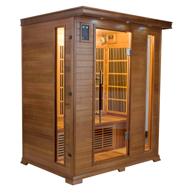 piscinex sauna luxe sauna infrarouge luxe 3 places. Black Bedroom Furniture Sets. Home Design Ideas