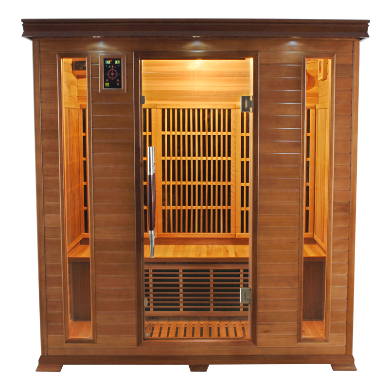 Piscinex sauna luxe sauna infrarouge luxe 4 places - Sauna infrarouge 4 places ...