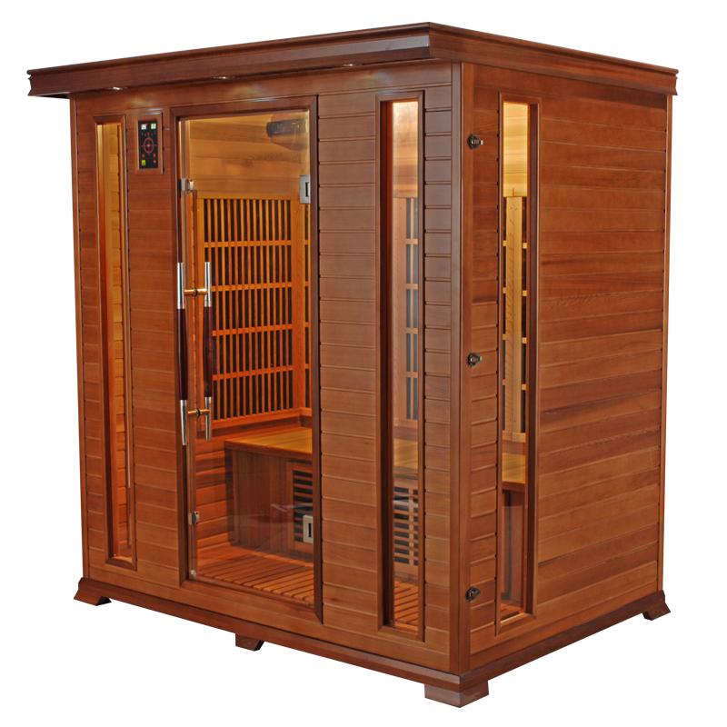 piscinex sauna luxe sauna infrarouge luxe 4 places. Black Bedroom Furniture Sets. Home Design Ideas
