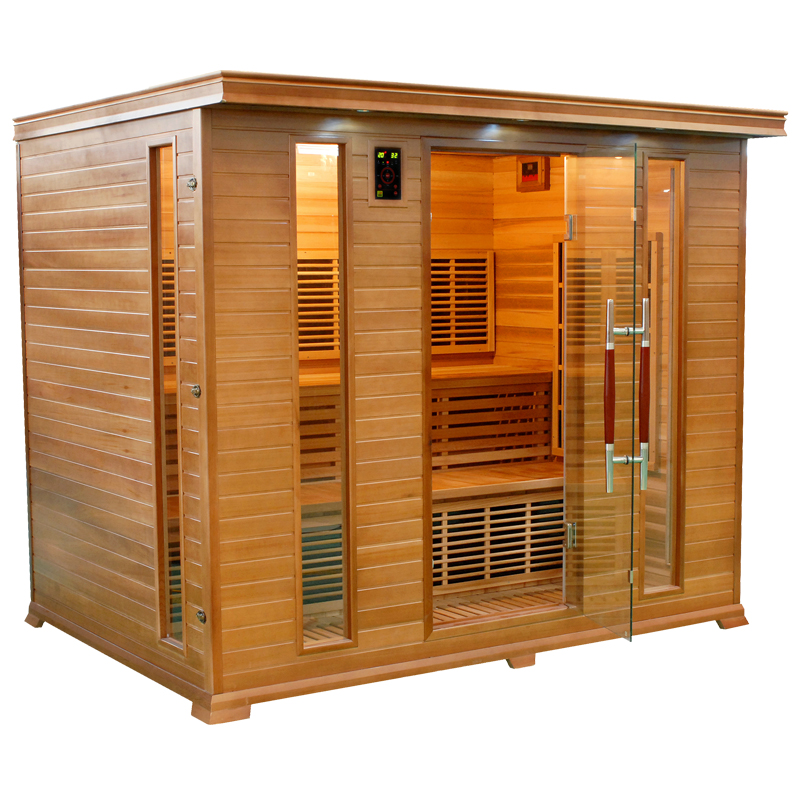 Piscinex sauna luxe sauna infrarouge luxe 5 places - Cabine hammam places ...