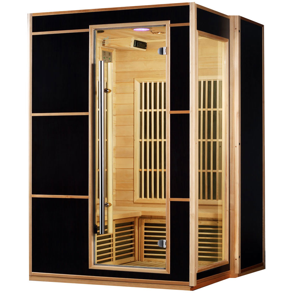 Piscinex les bonnes affaires piscinex sauna infrarouge genox l 3 places - Sauna infrarouge utilisation ...