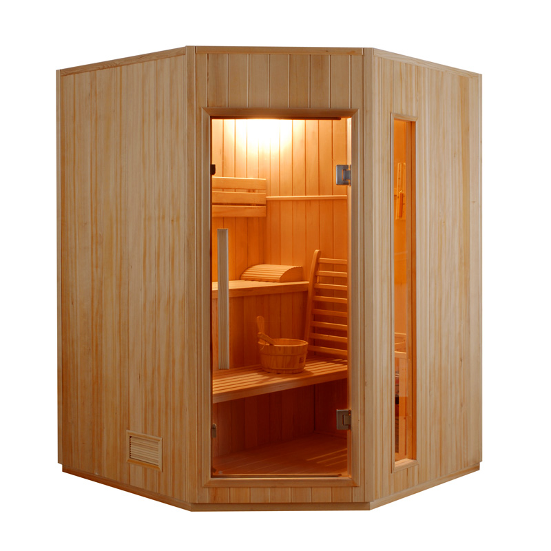 piscinex sauna traditionnel sauna vapeur zen angulaire. Black Bedroom Furniture Sets. Home Design Ideas