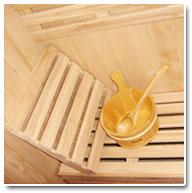 Sauna Vapeur Seau et Louche