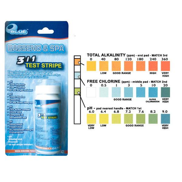 Piscinex spa testeur d 39 eau 3 en 1 sp cial spa - Eau trouble spa ...